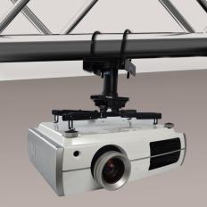 QualGear® QG-PRO-PM-TCA-B Pro-AV Truss Ceiling Adapter for 1.5 Inch Npt Threaded Pipe Projector Accessory