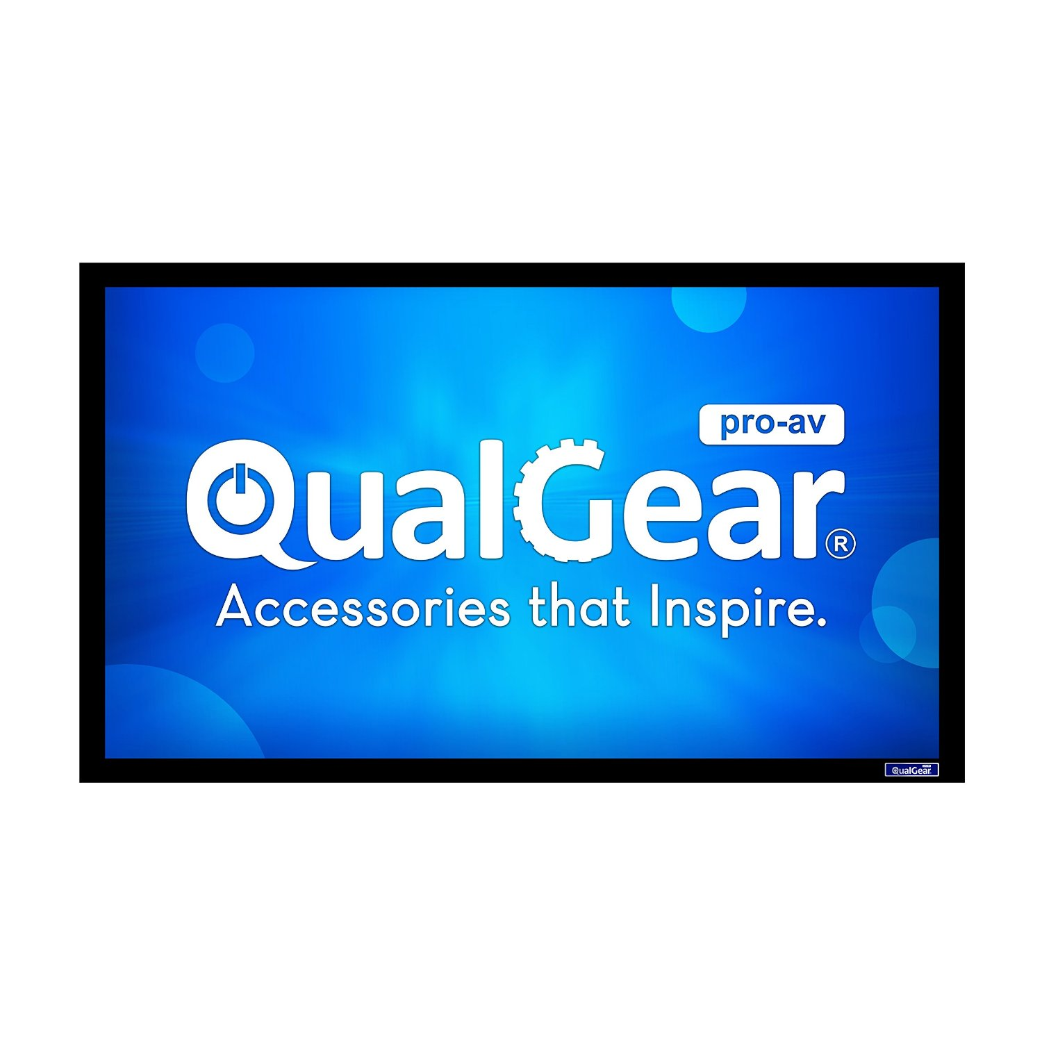QualGear Projector Screens-Fixed Frame Projector Screens - 4K HD Visual Quality