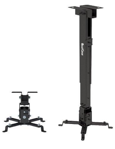 QualGear® QG-PM-002-BLK Universal Projector Ceiling Mount, Black