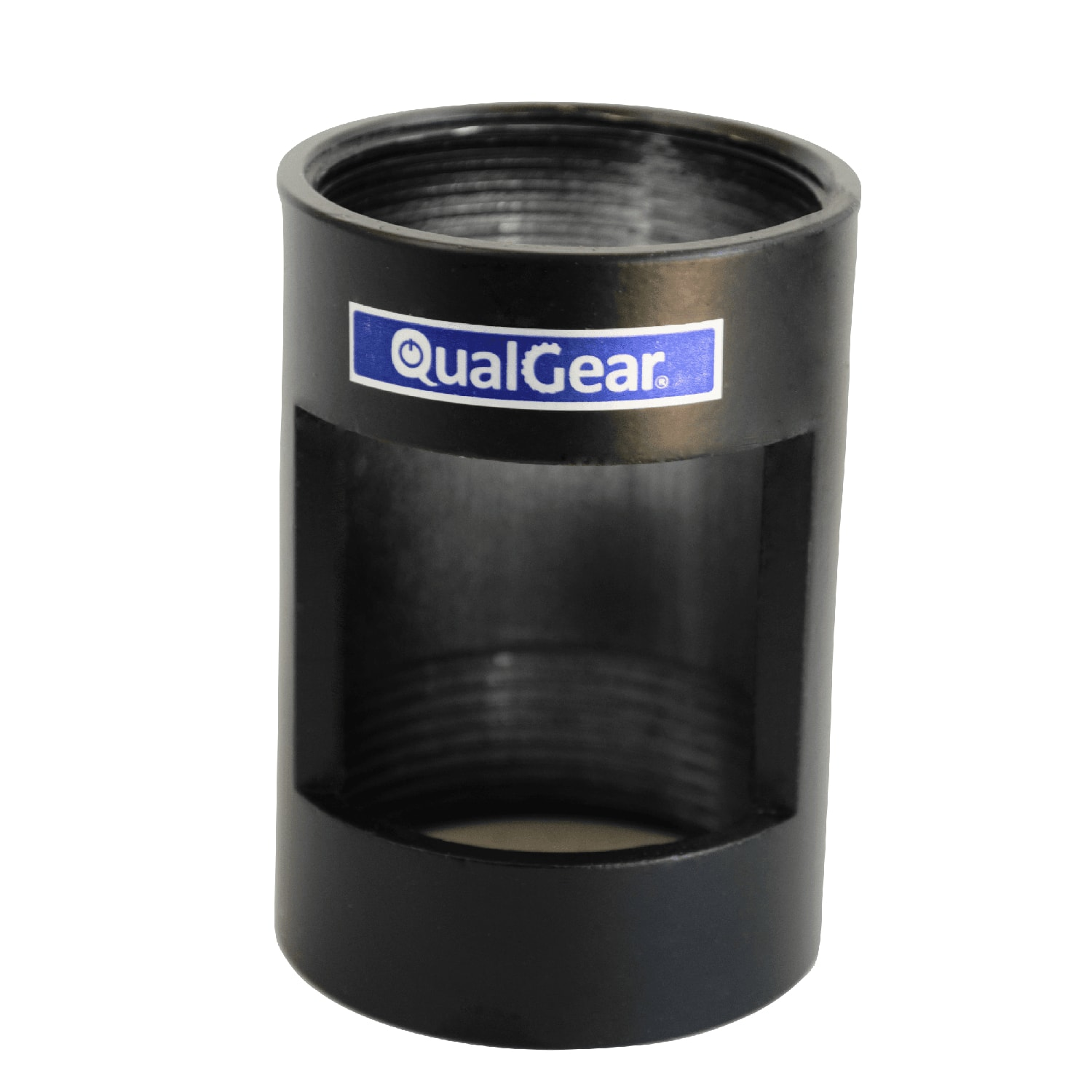 QualGear®  QG-PRO-PM-PCO-B Pro-AV 1.5 Inch  Npt Threaded Pipe Connector with Opening Projector Accessory