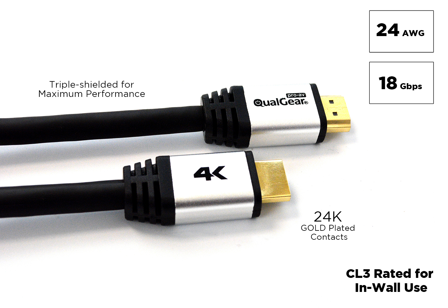 Qualgear 174 50 Feet High Speed Long Hdmi 2 0 Cable With 24k