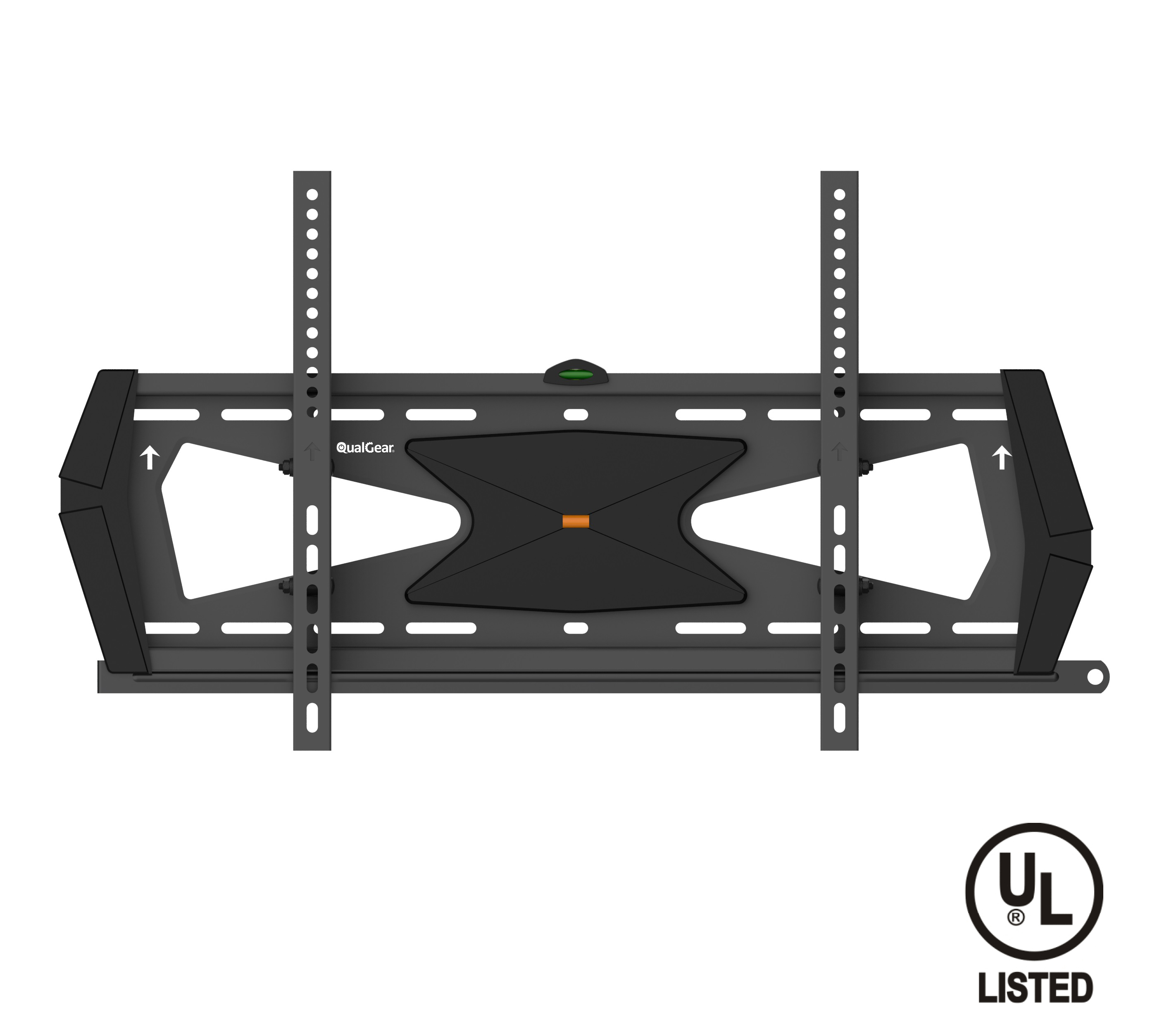QualGear® Heavy Duty Tilting TV Wall Mount for 37-70 Inch Flat Panel and Curved TVs, Black (QG-TM-031-BLK) [UL Listed]