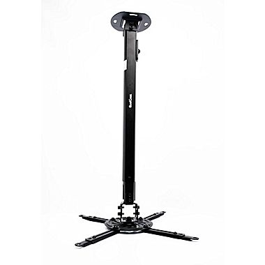 QualGear® QG-PM-002-BLK-L Universal Projector Ceiling Mount, Long, Black