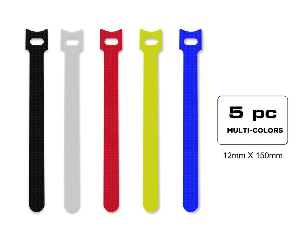 QualGear® VT3-MC-5-P Self-Gripping Cable Ties, 1/2