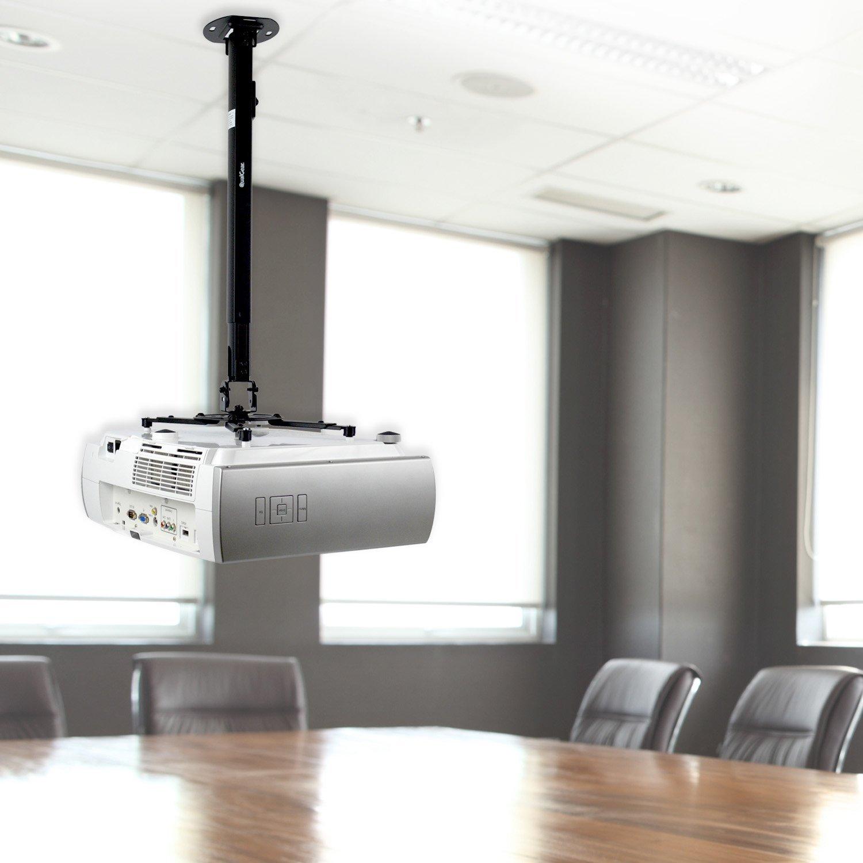 QualGear QG-PM-002-BLK-L Universal Projector Ceiling Mount, Long, Black