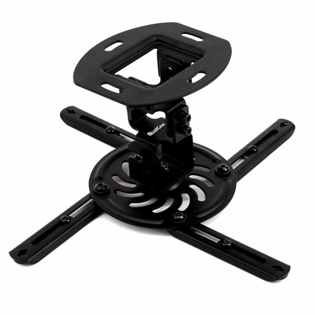 QualGear® QG-PM-002-BLK-S Universal Projector Ceiling Mount, Short, Black