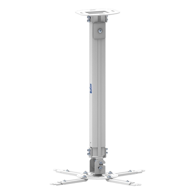 QualGear® QG-PM-002-WHT-L Universal Projector Ceiling Mount, Long, White