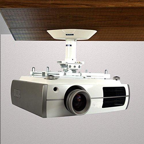 Qualgear Pro Av Qg Kit Ca 3in W Projector Mounting Mount Single Joist Ceiling Adapter 3 Inch 1 5 Npt Threaded Pipe In White