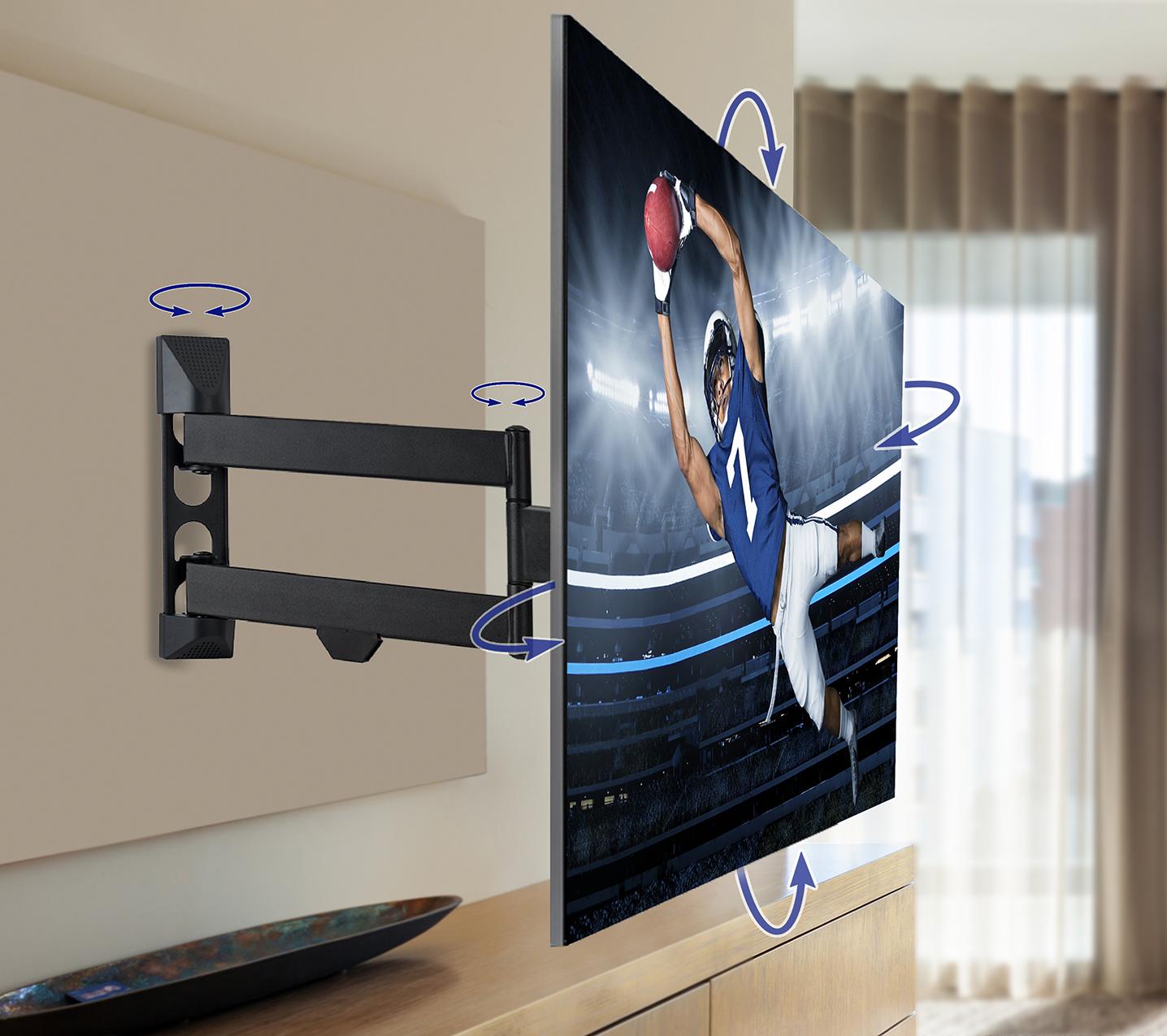 QualGear® QG-TM-020-BLK Articulating TV Mount 23-42 Inch , Black