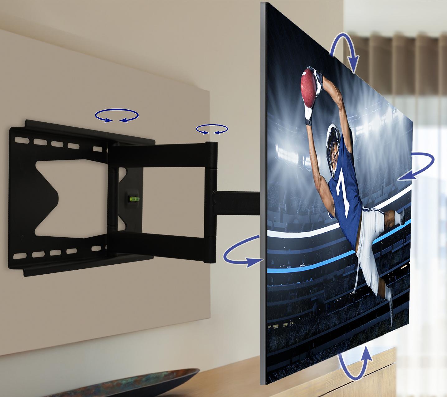 Qualgear 174 Heavy Duty Full Motion Tv Mount For 37 70 Inch