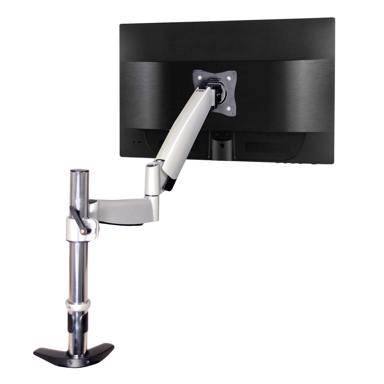 QualGear® QG-DM-01-023 13-27 Inch  Articulating Monitor Desk Mount with Spring Arm