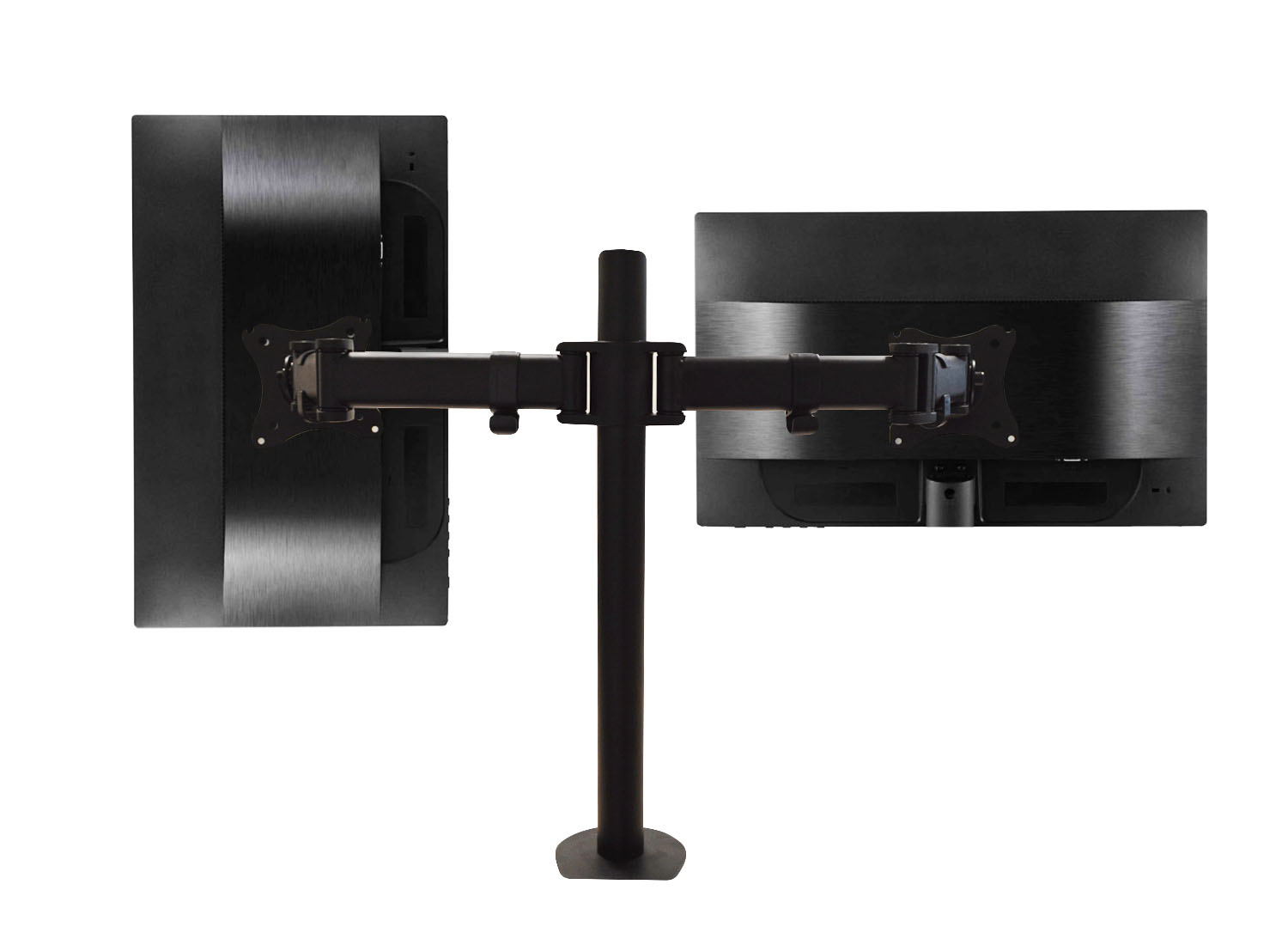 QualGear QG-DM-02-22 13-27 Inch 3-Way Articulating Dual Monitor Desk Mount , Black