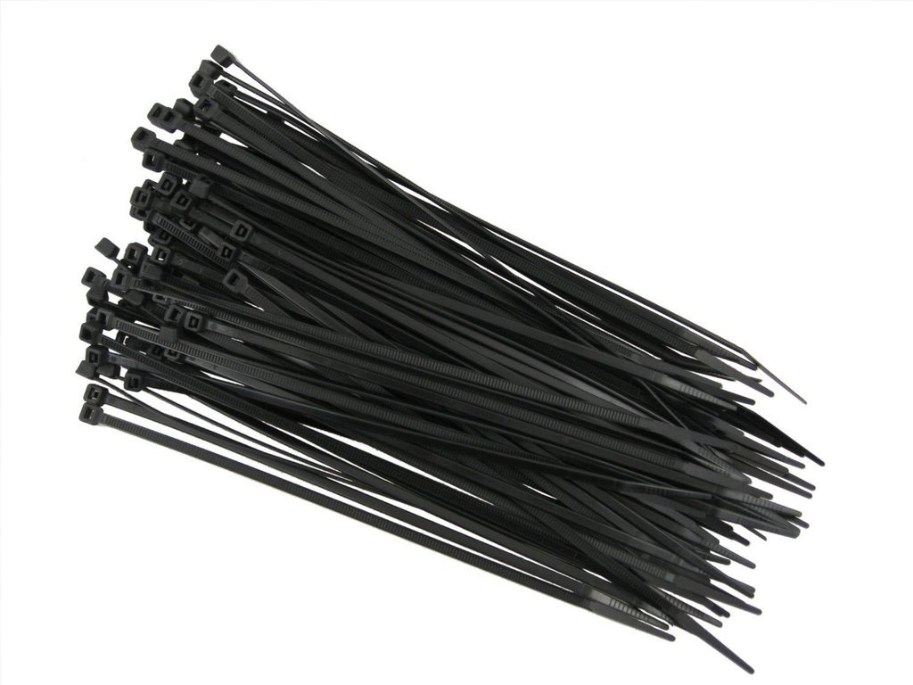 QualGear CT8-B-100-P 14-Inch Self-Locking Cable Ties - Black (Pack of 100)