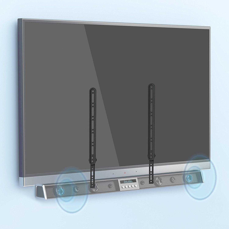 QualGear Durable Universal Sound Bar Bracket for Sound Bars upto 15kg/33lbs, Black (QG-SB-001-BLK)