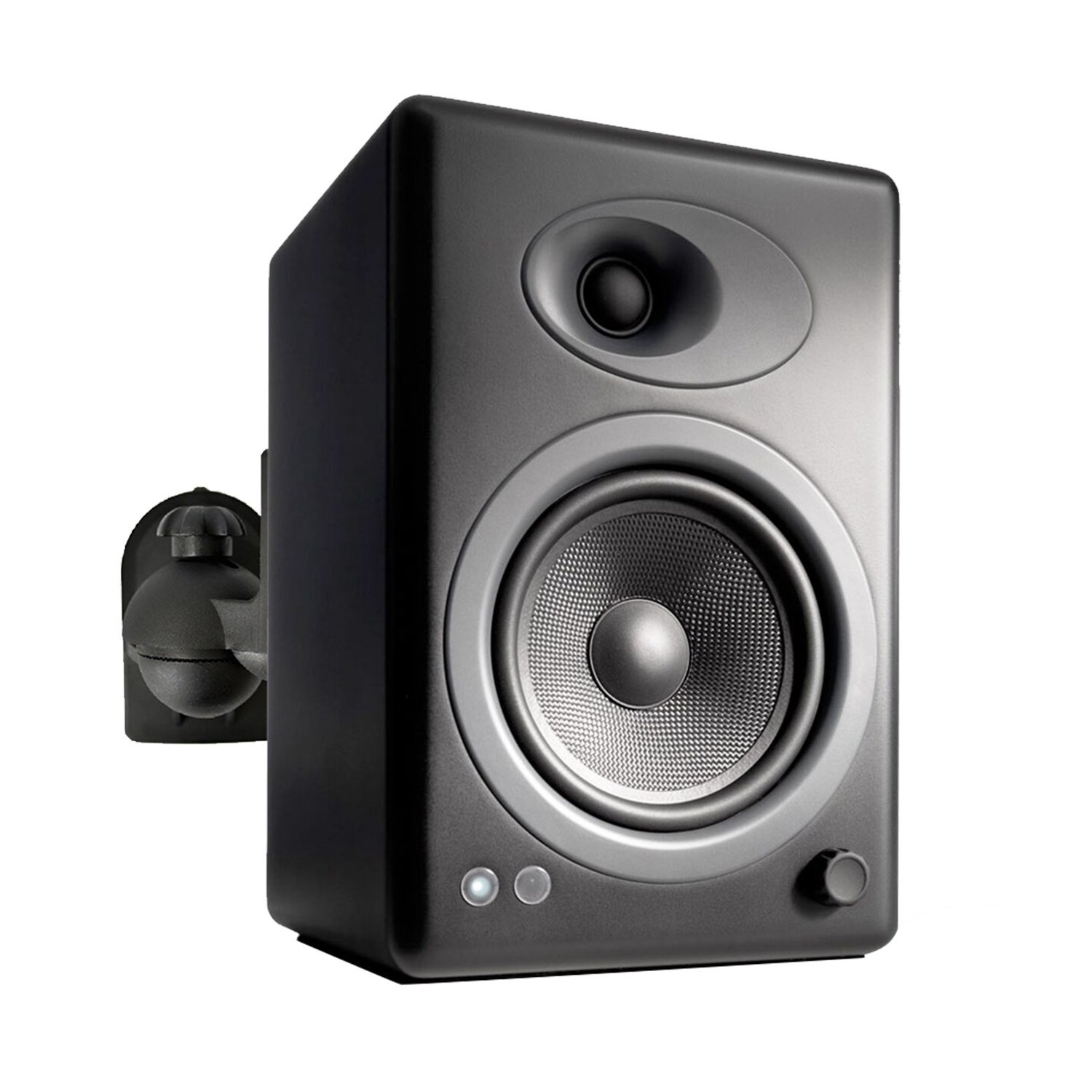 QualGear QG-SB-002-BLK UL Listed Universal Speaker Wall Mount for Most Speakers up to 3.5kg/7.7lbs, Black