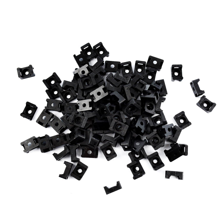 QualGear® CM1-B-100-P Cable Tie Mount, Black