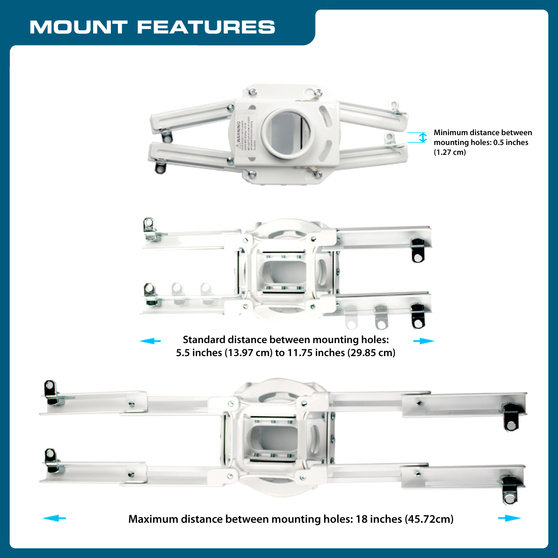 Qualgear Pro Av Qg Kit Ca 3in W Projector Mounting Kit Pr