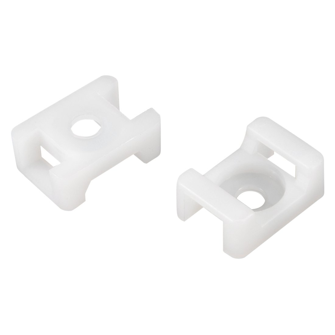QualGear® CM2-W-100-P Cable Tie Mount, White