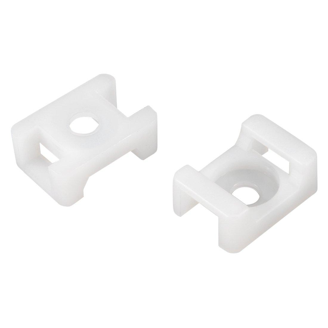 QualGear CM2-W-100-P Cable Tie Mount, White