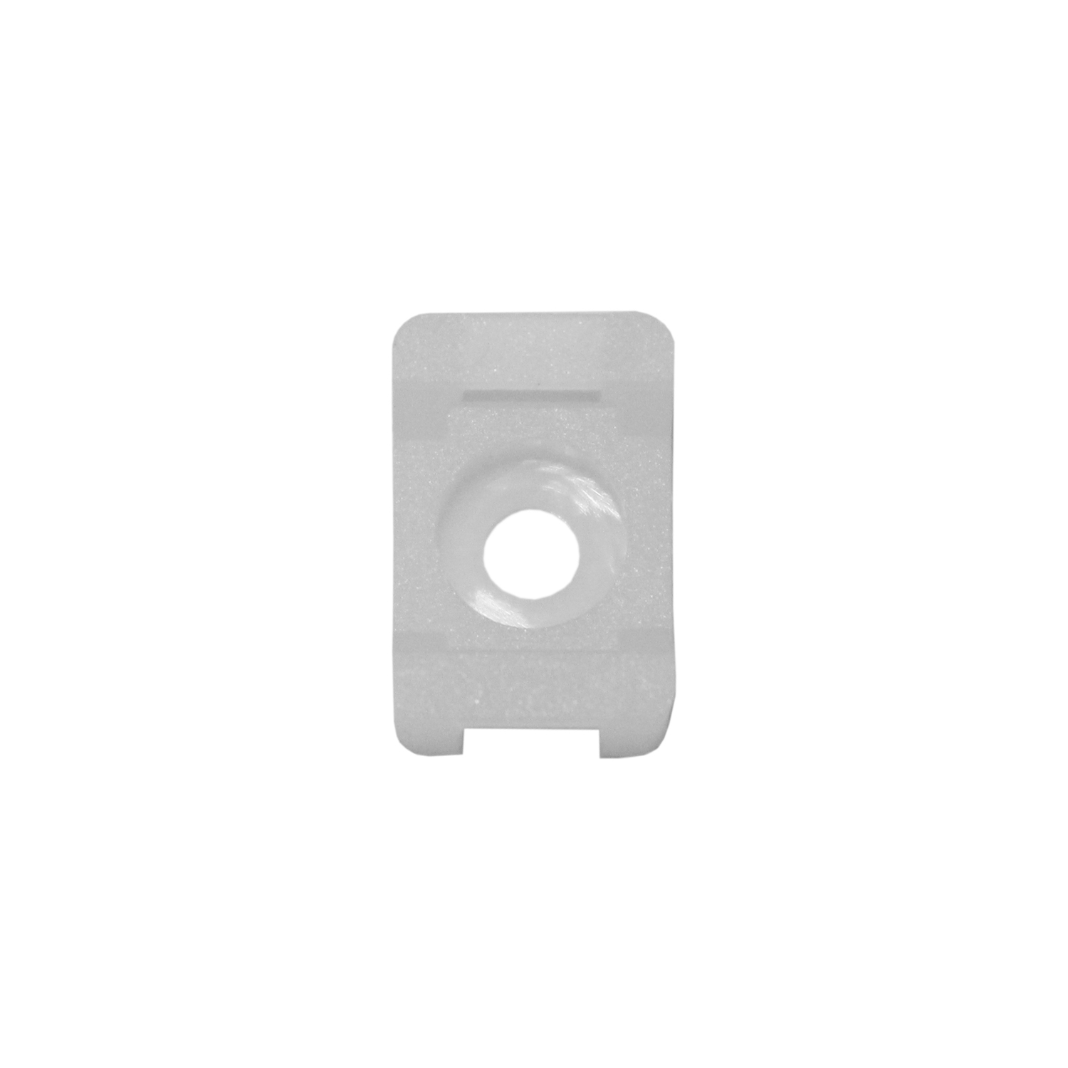 White Round Cable Clips For Wall Mounting Cables 4.5mm Pack Of