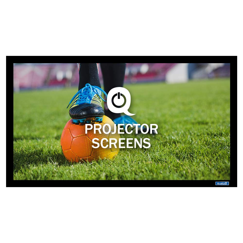 QualGear QG-PS-FF6-169-100-W 16:9 Fixed Frame Projector Screen, 100-Inch, 4K HD Ultra White 1.2 Gain