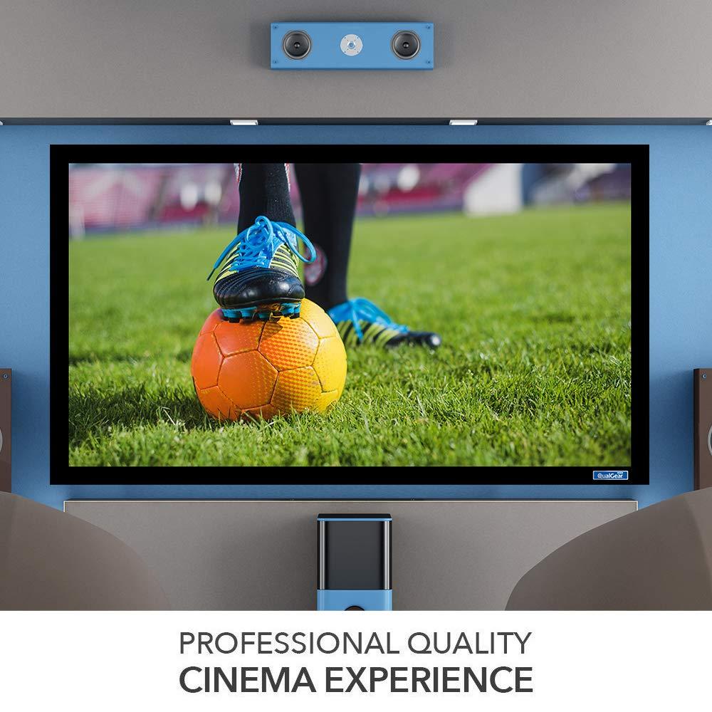 QualGear QG-PS-FF6-169-135-W 16:9 Fixed Frame Projector Screen, 135-Inch 4k HD Ultra White 1.2 Gain