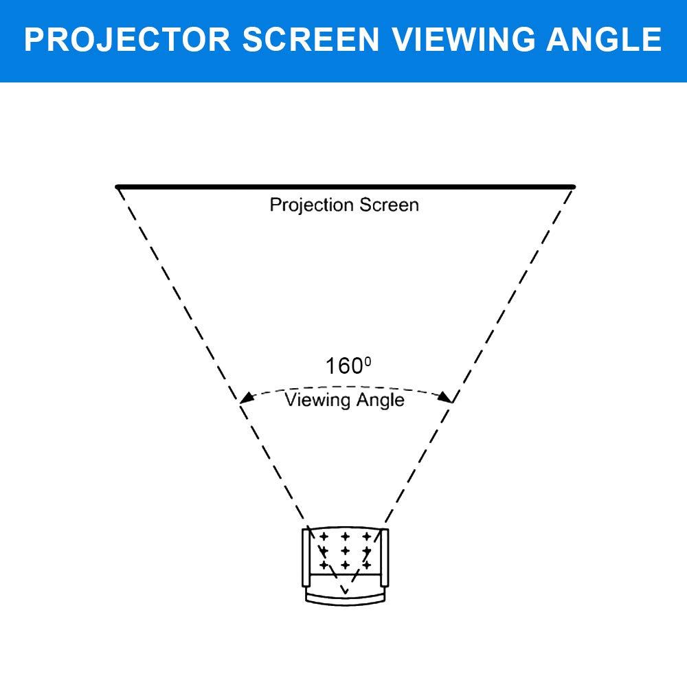QualGear QG-PS-FF6-169-150-W 16:9 Fixed Frame Projector Screen, 150-Inch 4k HD Ultra White 1.2 Gain